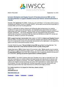 IWSCC RBC Media Release