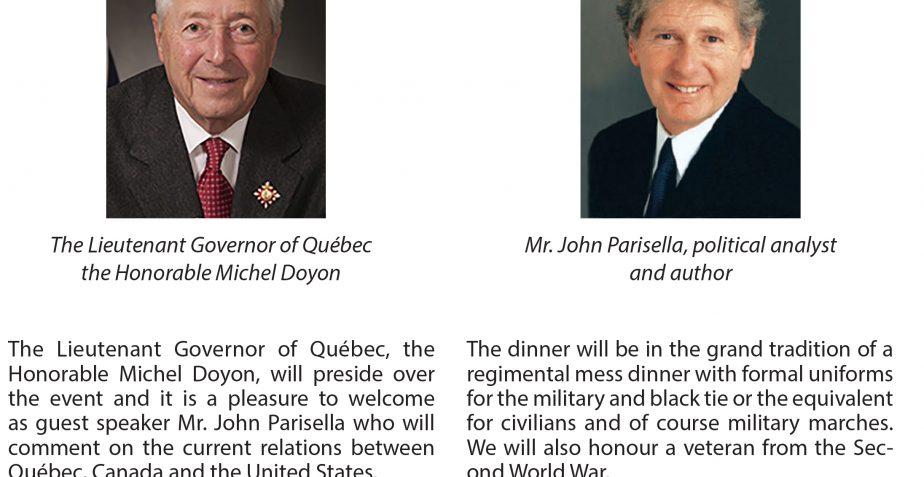 Remembrance dinner to honour our Veterans. / Le Dîner du souvenir en l'honneur de nos vétérans