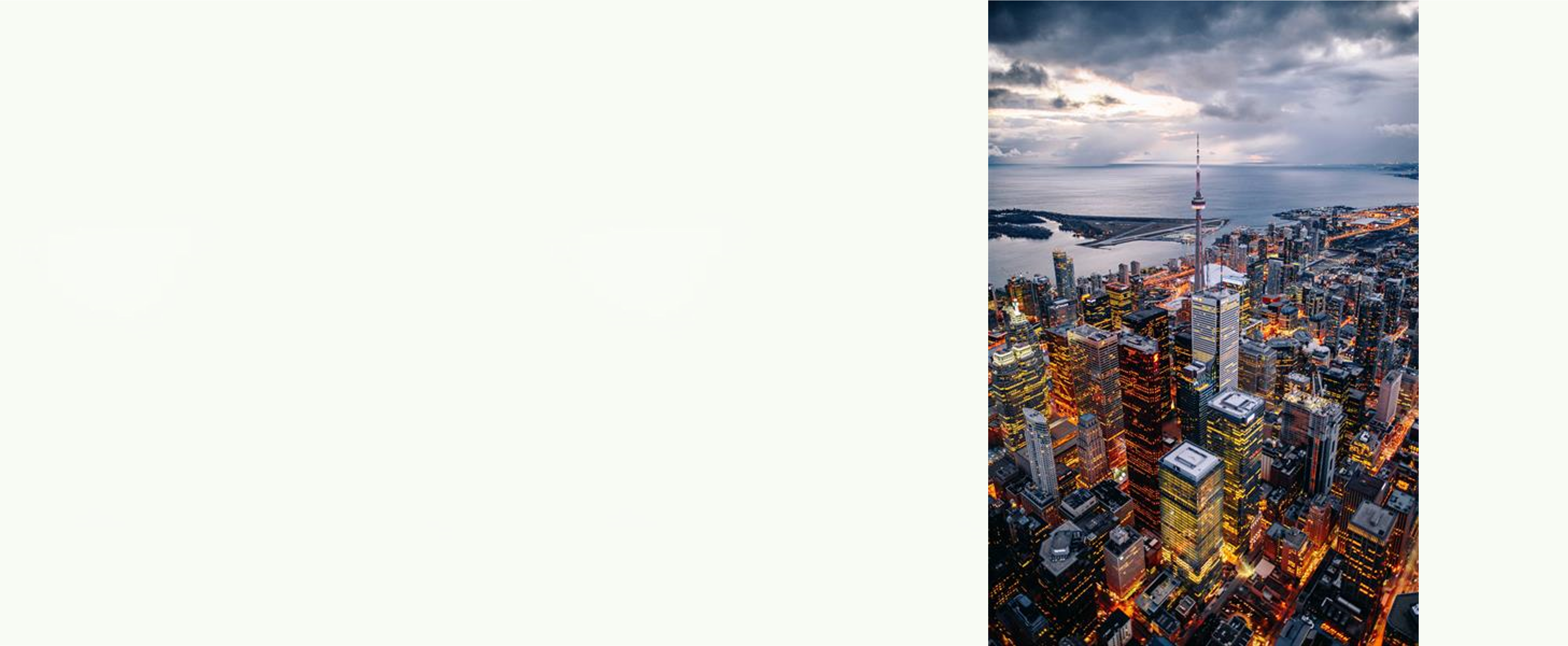 Slider background with Toronto Skyview to the right